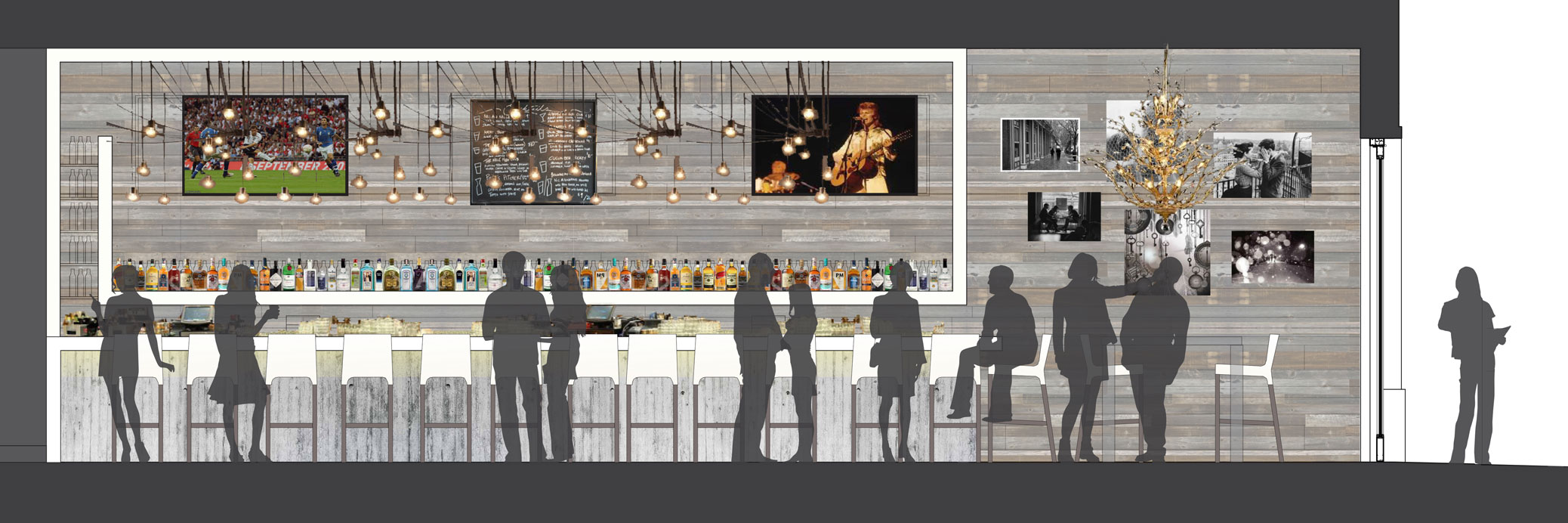 Hobnob Kitchen and Bar : Commercial Work || David Poorman Architect